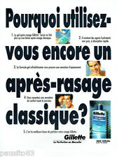 PUBLICITE ADVERTISING 125  1996  GILLETTE   after-shave après rasage