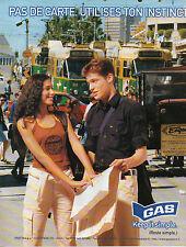 Publicité 1998  GAS vetement collection mode