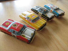 4x original TN Nomura Japan Blech Auto Tin Toy Car 1960er NOS unbespielt