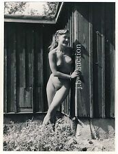 Nudism BLOND NUDE WOMAN OUTDOOR / NACKTE BLONDINE FKK * Vintage 50 Photo