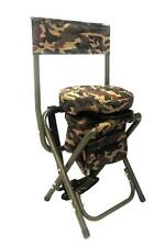CAMO SWIVEL SEAT CHAIR STOOL PIGEON SHOOTING 360 ROTATING BASE+FREE GAME CARRIER