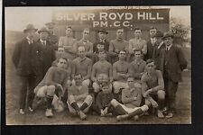 Silver Royd Hill Football Team near Huddersfield - real photographic postcard