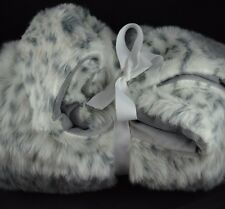 Pottery Barn Teen Kids Snow Leopard Throw - White with Black Spots