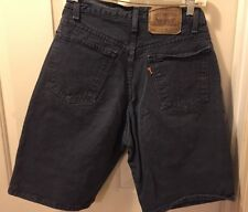 AUTHENTIC LEVI'S 550 RELAXED FIT ORANGE TAB Gray  Denim Jean Shorts Mens 30 W