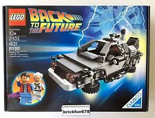 Lego Cuusoo/Ideas 21103 The DeLorean Time Machine New In Factory Sealed Box