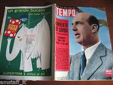 RIVISTA TEMPO 1958/10=UMBERTO DI SAVOIA=VERA CECOVA=SANDRA MILO=LAUREN BACALL=