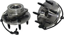 Front Wheel Hubs & Bearings Pair Set w/ABS for Chevy GMC Truck 4X4 4WD AWD