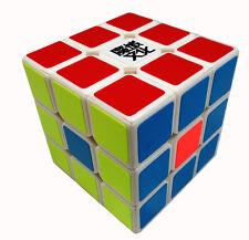 NEW YJ MoYu Weilong V2 Strengthened 3x3 Magic Cube Twist Puzzle Toys White 5.7cm