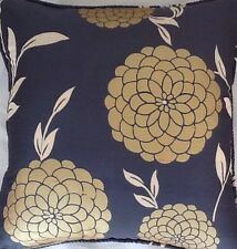 A 16 Inch cushion cover in Laura Ashley Erin Charcoal Silk Fabric