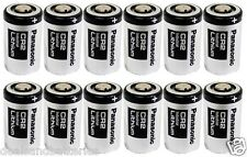 12 Panasonic CR2 DL-CR2 Lithium Photo Batteries Exp. 2024