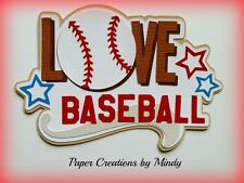 Craftecafe Mindy Sports  Baseball boy girl title premade paper piecing scrapbook