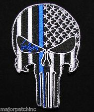 PUNISHER DARK OPS NIGHT SCOPE POLICE THIN BLUE LINE USA FLAG SWAT HOOK PATCH