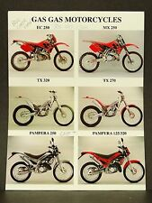 Gas Gas Motorcycle Trials Dirt Bike Brochure EC 250 MX 250 TX 320 TX 270 Pampera