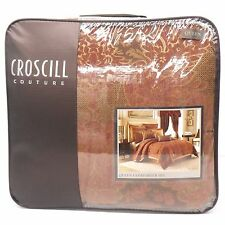 CROSCILL COUTURE Palazzo QUEEN COMFORTER SET 4pc NWT Damask Floral Apricot