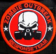 """Zombie Outbreak Response Team Gas Mask Patch 3"""" Hook and Loop backing"""