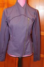 NEW Lululemon Precision Jacket Purple Tweed Zipper Front Coat 10 M L