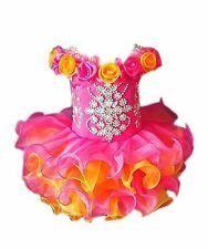 Baby Girls' Ruffles Cupcakes Crystal Mini Floral Ball Gown Toddler/Infant Formal