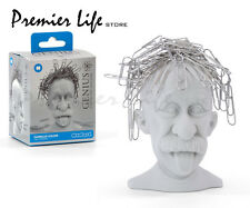 Albert Einstein Genius Bald Headed Magnetic Paper Clip Holder