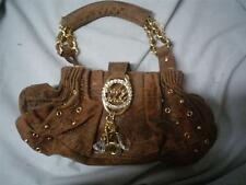 Baby Phat Handbag, Purse brown with gold embellishments