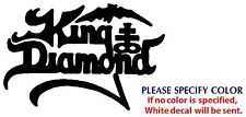 KING DIAMOND Metal Music Rock Band Funny Vinyl Sticker Decal Car Window Wall 7""
