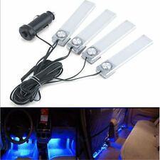 4 LED Car Interior Decorative Floor Lamp Auto Cigarette Lighter Blue Light KY