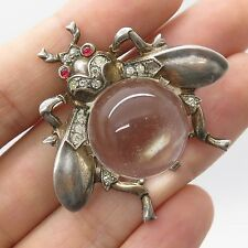 Trifari 925 Sterling Silver Jelly Belly Fly Pin Brooch