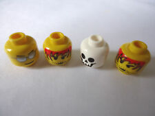 NEW 3626bpx33 ASSORTED MINIFIG HEADS x 4