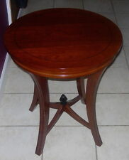 """BOMBAY OUTLET  ART DECO STYLE END TABLE  ONE  22""""  ROUND   C. 2005"""
