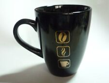 "NESCAFE GOLD COFFEE Black Ceramic Mug Cup MALAYSIA 4"" Nestle 2012 Original Box"