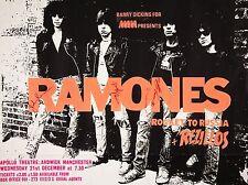 "The Ramones Apollo Manchester 16"" x 12"" Photo Repro Concert Poster"