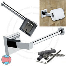 Bathroom Chrome Square Wall Mounted Toilet Roll Tissue Paper Holder DCUK