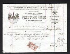"""PRUNAY-le-GILLON (28) COUVERTURE ZINGUERIE / TOITURE """"PERROT & BORDIER"""" en 1919"""