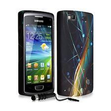 Housse étui coque en gel pour Samsung Wave 3 avec motif HF10 + mini stylet