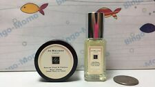 Jo Malone Lime Basil Mandarin Spray 0.3oz & English Pear Freesia Body Cream .5oz