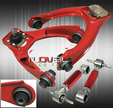 96-00 HONDA CIVIC EK ADJUSTABLE FRONT UPPER & REAR ADJUSTABLE CAMBER KIT RED