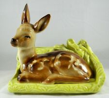 Vintage Shawnee Art Pottery Figural Deer Fawn Ceramic Planter 766 USA 1950s