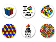 Lot Pack Badge Button Ø25mm Image Print Rubik's Cube Jeu Casse tete