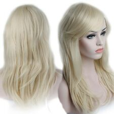 Full Wigs With Bangs Real Thick Natural Curly Wave Straight Brown Wigs for Women