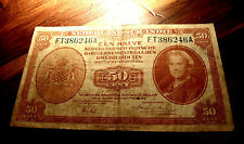 Rare WWII ERA 1943 Netherlands EAST Indies  50 Cents , More scarce  FT  SERIES