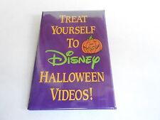 VINTAGE PROMO PINBACK BUTTON #90-052 - DISNEY - HALLOWEEN VIDEOS