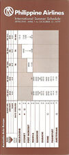 Philippine Airlines international timetable 4/1/79 [6022] Buy 2 get 1 free