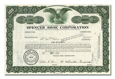 Spencer Shoe Corporation Stock Certificate