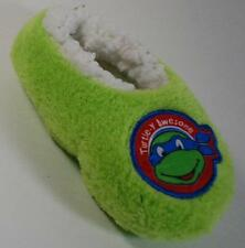 NEW Boys Toddler TEENAGE MUTANT NINJA TURTLE GREEN Slipper Socks SZ 3T/4T