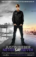 JUSTIN BIEBER NEVER SAY NEVER 13.5x20 PROMO MOVIE POSTER
