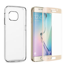 Samsung Galaxy S7 Edge 3D Panzerglas Schutz Glasfolie Curved Displayfolie Gold