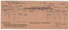 1908 NEW YORK NEW HAVEN HARTFORD RAILROAD NH Document MIDDLEBORO Boston MASS MA
