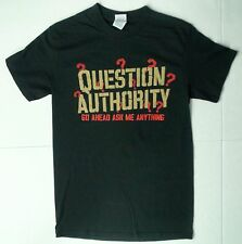 New Mens Question authority go ahead ask me anything Novelty T-shirt tee small