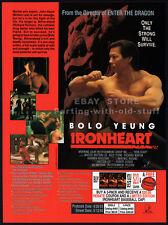 IRONHEART — Original 1993 video Trade AD movie promo__BOLO YEUNG__RICHARD NORTON