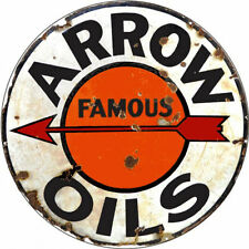 Arrow Famous Oils  Motor Oil and Gas Station Sign