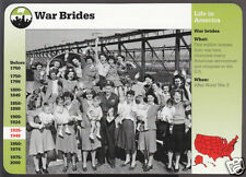 WAR BRIDES WW2 English Women Arrive in New York Photo STORY OF AMERICA CARD